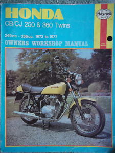Haynes Manual For Honda CB/CJ 250 & 360 Twins 1973-1977