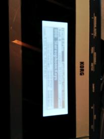 Korg X50 synthesiser.