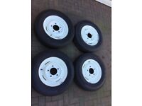 Land Rover series wheels and tyres x4