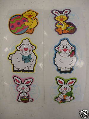 100 Easter Bunny Ducky Spring Sheep Stickers Party Favors Teacher Supply