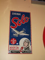 Extremely  RARE 1940 Drink SOLO aviation 6 flavors advertising
