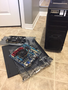 Computer parts with a case