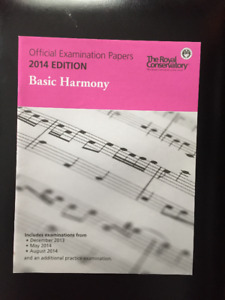 3 Royal Conservatory Offical Exam papers for Basic harmony