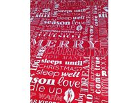 King size Xmas themed quilt cover & 2 pillow cases