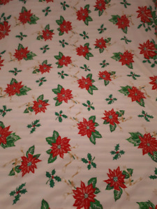 Christmas tablecloth Square 62 in Long by 57 w brand new