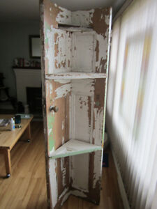 Antique door corner shelf  (Woodlawn Area)