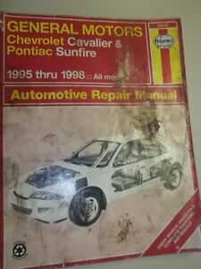 Haynes repair manual for Chev Cavalier &  Sunfire 1995 - 1998