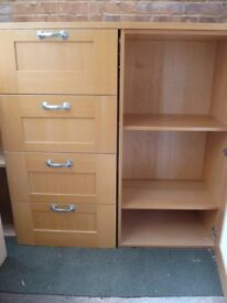 Habitat storage drawers & cupboard unit