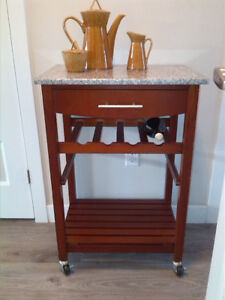 Serve coffee in style:  granite topped Butler's Kitchen Cart