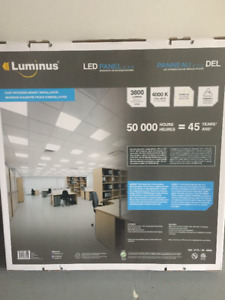 BRAND  NEW  LUMINUS CEILING PANEL LED LIGHT 24''X24'' 4000K