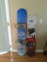 2 snowboards good condition 50