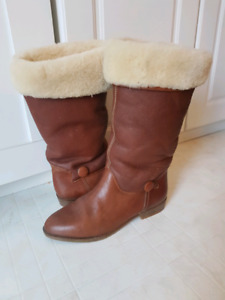 Italian Leather Boots Size 8.5