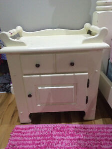 Solid Wood Side Table Washstand