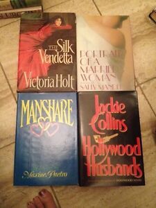 4 Romance Novels by S. Mandel, J. Collins, V. Holt, M. Part to