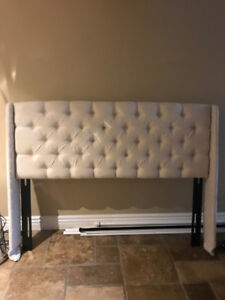 Queen Size Tufted Wingback Headboard