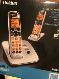 Uniden DECT 6.0 Expandable Cordless Phone with Caller ID - Silve