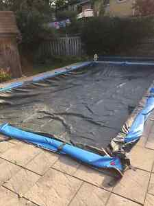Winter tarp for 32x16 rectangle pool