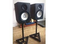 Yamaha HS80M monitor speakers + stands