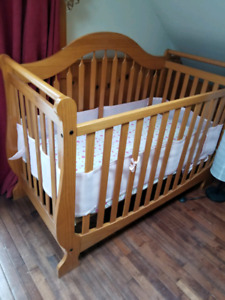 Crib and changing table
