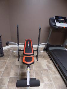 Weider Pro 256 Bench Press, Weights & Bars