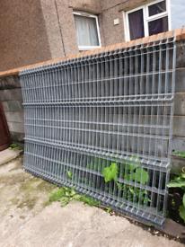 Panels metal fence
