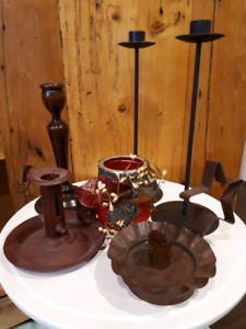 PRIMITIVE STYLE CANDLESTICK HOLDERS
