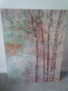 Large Green Forest Canvas Wall Art