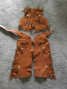 Leather vest and chaps
