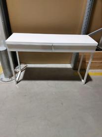 IKEA BESTA BURS desk, high gloss white 120x40cm #Bargaincorner