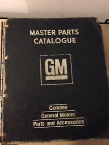Livres GM Originaux Parts Catalogue