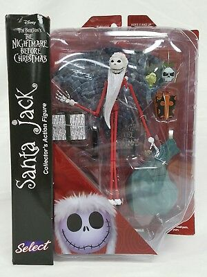 Santa Jack Action Figure Nightmare Before Christmas Select Series 2 New Sealed
