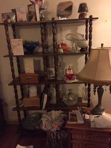 beautiful shelving unit, with lots of space