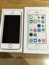 iPhone 5s 16gb on O2 in Gold- excellent condition