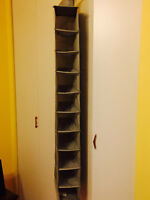 Under bed storage box and hanging shoe rack- like new