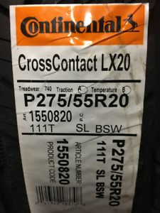 4 Brand New Continental Cross Contact LX 20 275/55R20 REBATE!!