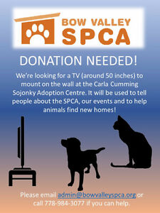Large TV for the Bow Valley SPCA!