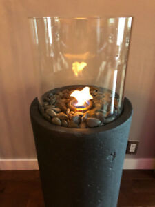 Indoor/Outdoor Ethanol Fireplace Column