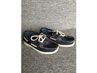 M&S navy boat shoes,size 8 in excellent condition worn twice
