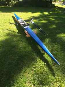 Hudson Single Scull Row Boat with Oars