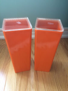 ORANGE Plastic Containers with lids