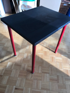 Kitchen table red legs