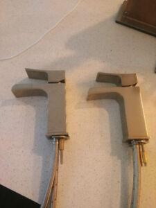2x Riobel ZSOP00 Faucets in Brushed Nickel