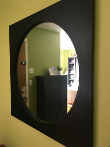 Grand miroir | Large mirror with wood frame