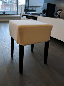 Ikea Nils Stool with White Cover