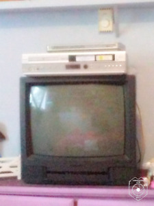 tv , dvd player, vcr and dvd player