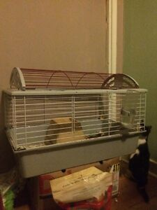 Small animal cage with accessories