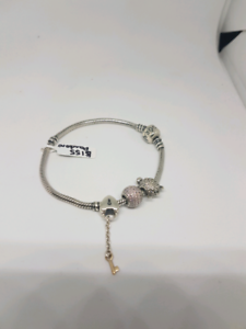 Pandora bracelet with 3 charms Belmont Belmont Area Preview