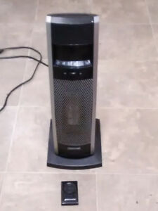 Electric heater with remote