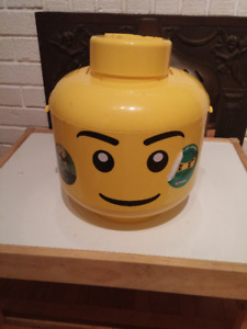 Lego sort and storage smiling head
