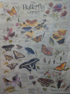 Tin Sign of Variety of Butterflies- NEW!